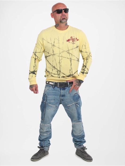 Yakuza Pullover Barbwire yellow