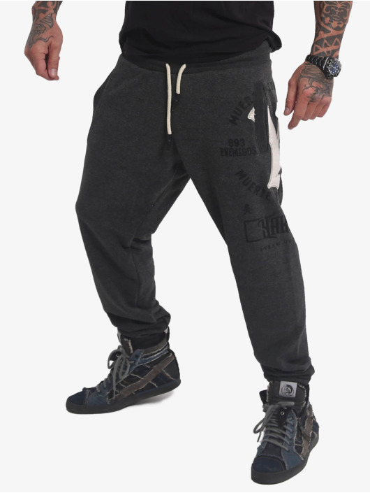 Yakuza Sweat Pant Muerte Logo gray