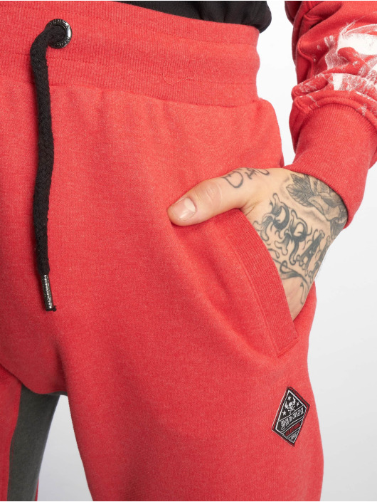 Yakuza Sweat Pant Badge Sweat red