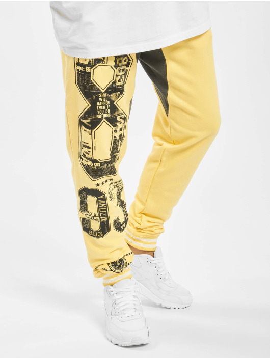 Yakuza Sweat Pant Badge yellow