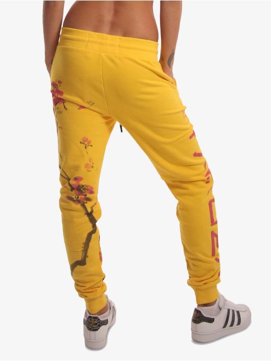 Yakuza Sweat Pant Cherry Blossom yellow
