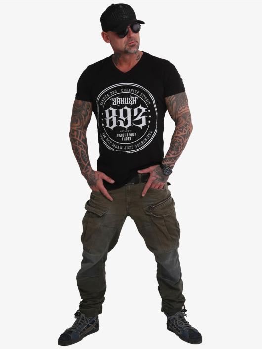 Yakuza T-Shirt Creative Studio Long Tail V-Neck black