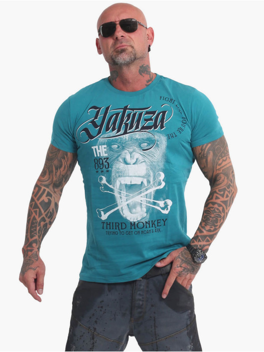 Yakuza T-Shirt Third Monkey blue
