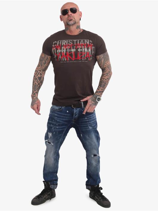 Yakuza T-Shirt Party Time brown