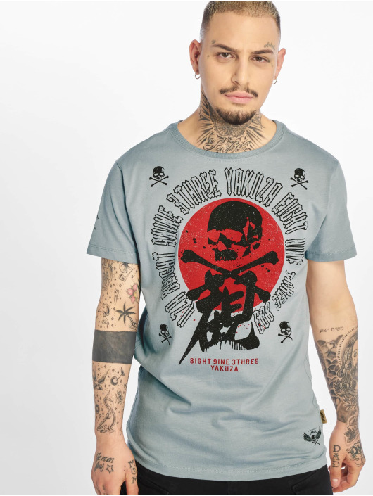 Yakuza T-Shirt Nippon Skull gray