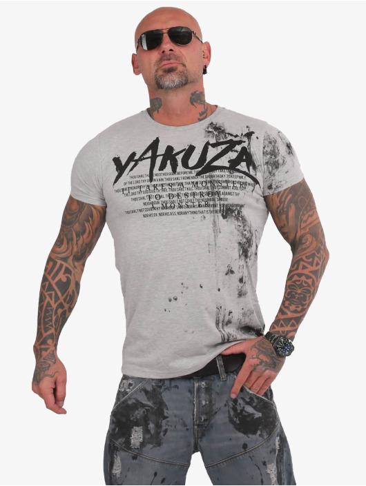 Yakuza T-Shirt Destroy A Monster gray