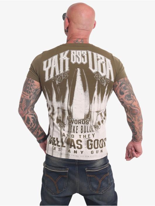 Yakuza T-Shirt Words Like Bullets olive