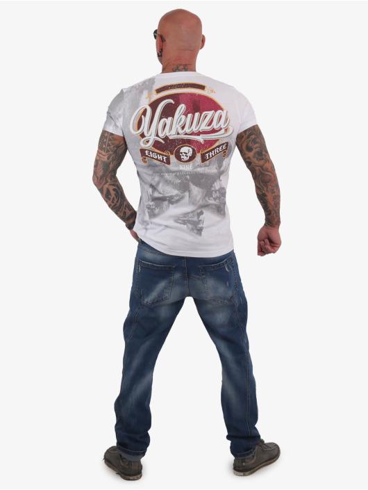 Yakuza T-Shirt Skull Dust white