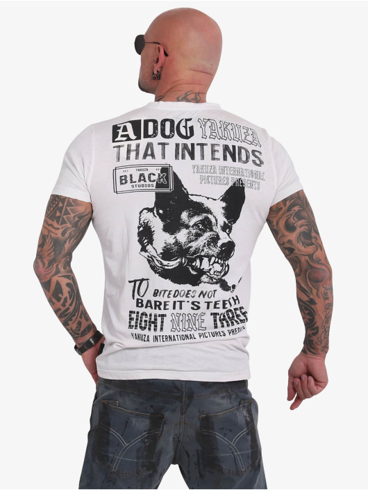 Yakuza T-Shirt Dog Burnout white