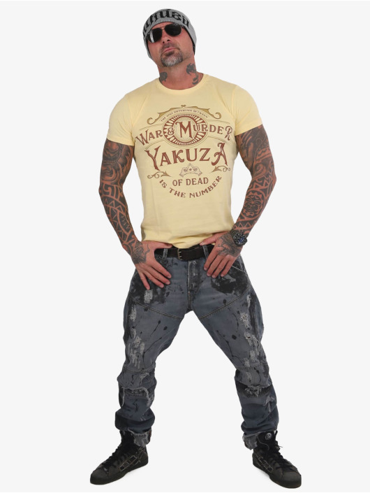 Yakuza T-Shirt War Is Murder yellow