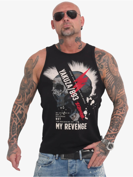 Yakuza Tank Tops Skull Revenge black
