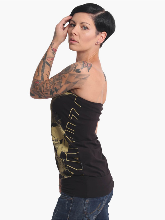 Yakuza Top Dropping Skull Bandeau black