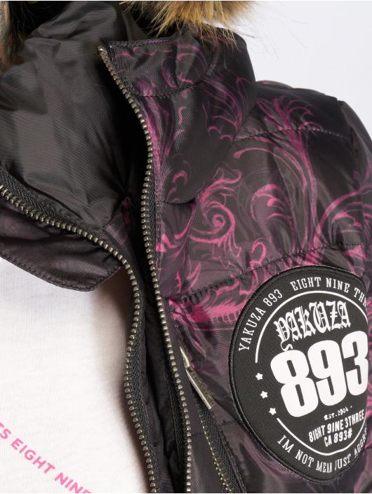 Yakuza Winter Jacket Ornamental Skull Winter Teddy black