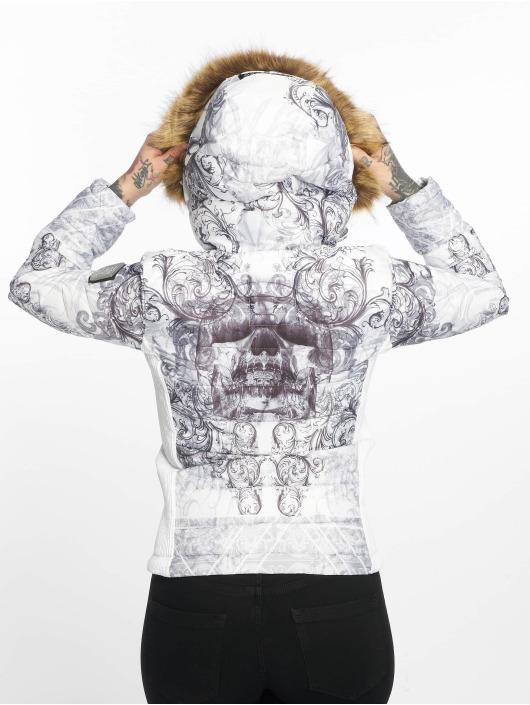 Yakuza Winter Jacket Ornamental Skull white
