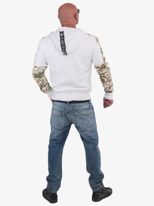 Yakuza Zip Hoodie Nippon Skull Two Face white