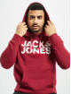 Jack & Jones Hoodie jjeCorp red