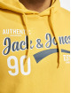 Jack & Jones Hoodie jjeLogo yellow