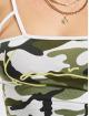 Karl Kani Top Kk Signature Camo Cropped green