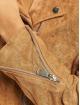 Missguided Leather Jacket Suedette Boyfriend Biker brown
