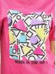 Mister Tee T-Shirt Ladies Geometric Retro pink