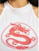 Mister Tee Tank Tops Ladies Dragon Turtleneck Short white