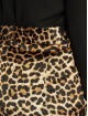 NA-KD Chino pants Flared Shiny Leo brown
