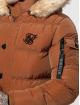 Sik Silk Puffer Jacket Shiny brown