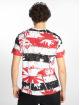 Southpole T-Shirt Palm Tree Stipe Print red 1