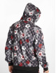 Southpole Zip Hoodie Floral Checker Fleece colored 1