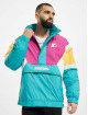 Starter Lightweight Jacket Color Block Half Zip Retro turquoise