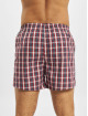 Urban Classics Boxer Short Woven Plaid  2-Pack red