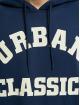 Urban Classics Hoodie College Print blue