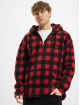 Urban Classics Hoodie Patterned Polar Fleece red