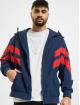 Urban Classics Lightweight Jacket Crinkle Panel blue