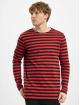 Urban Classics Longsleeve Regular Stripe LS red