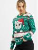 Urban Classics Pullover Ladies Kitty Christmas green