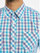 Urban Classics Shirt Tricolor Big Checked purple