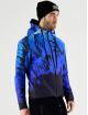 VSCT Clubwear Lightweight Jacket Graded Tech Fleece Hooded Leaf-Camo blue