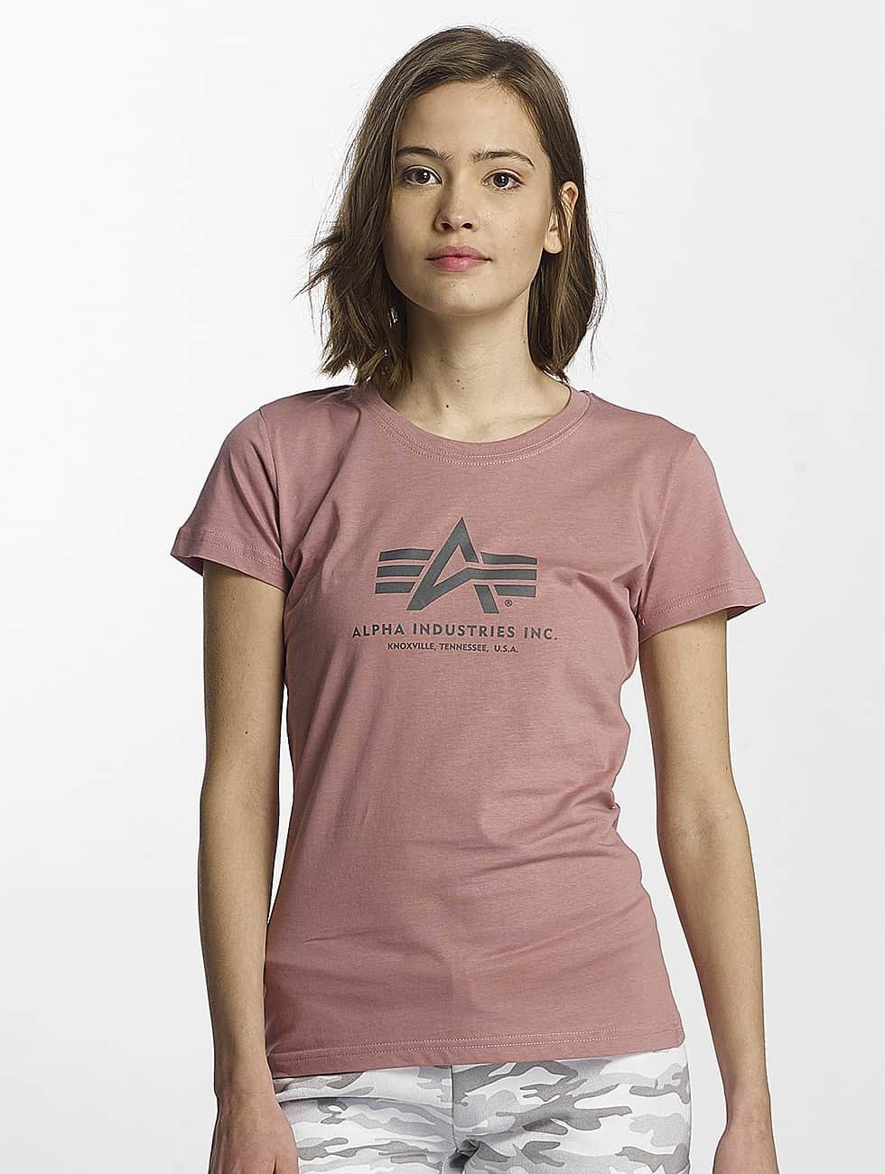 Alpha Industries T-Shirt Logo pink
