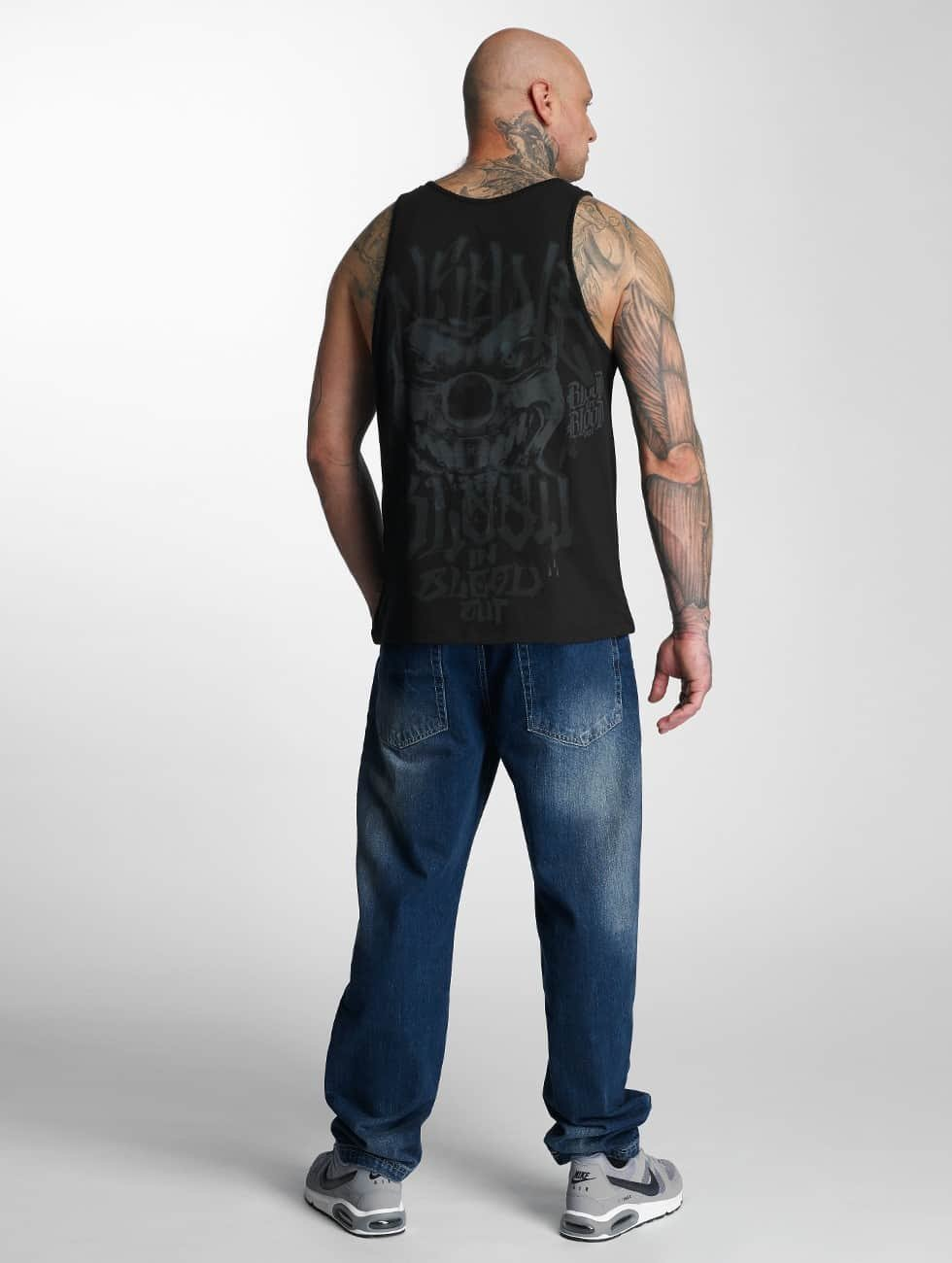 Blood In Blood Out Tank Tops Out Red Harlekin black