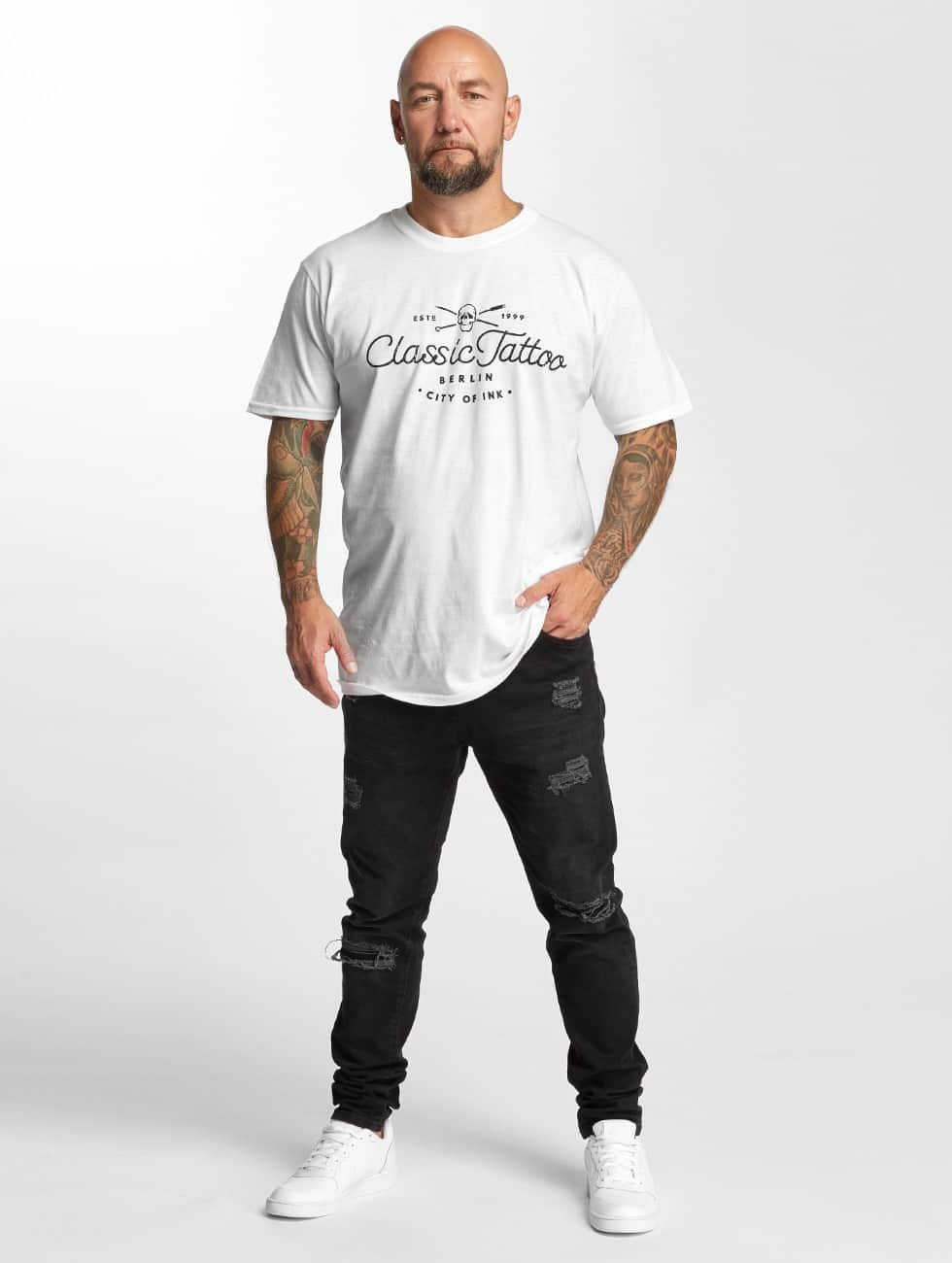 I Love Tattoo T-Shirt City Of Ink white