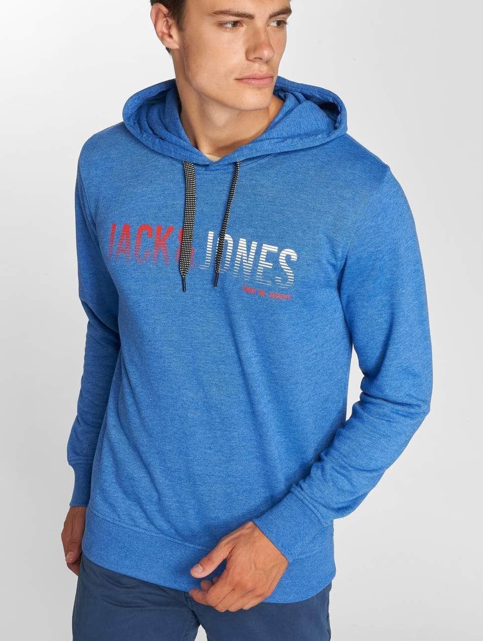 Jack & Jones Hoodie jcoLinn blue