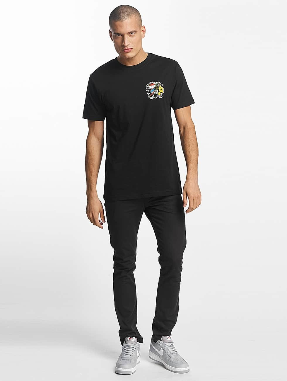 Mister Tee T-Shirt Indian Logo black