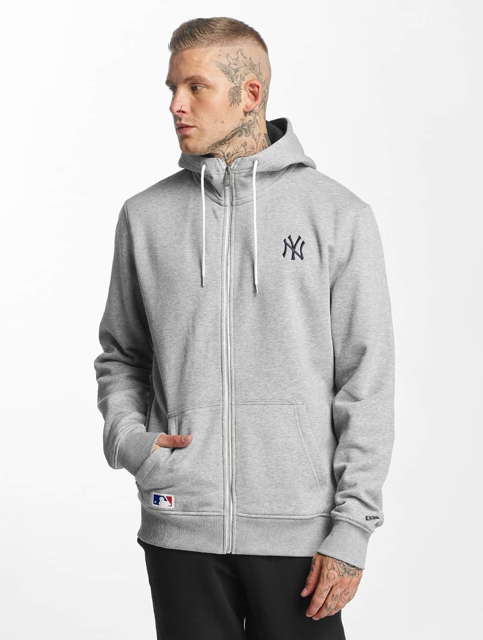 New Era Zip Hoodie NY Yankees gray