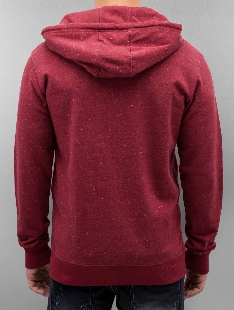 Only & Sons Zip Hoodie onsFiske red