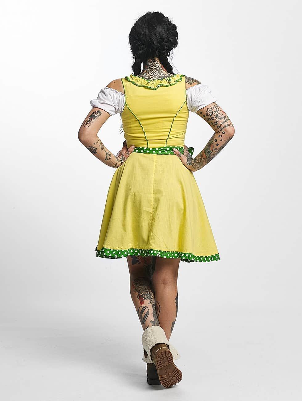 Paris Premium Dress Funny yellow