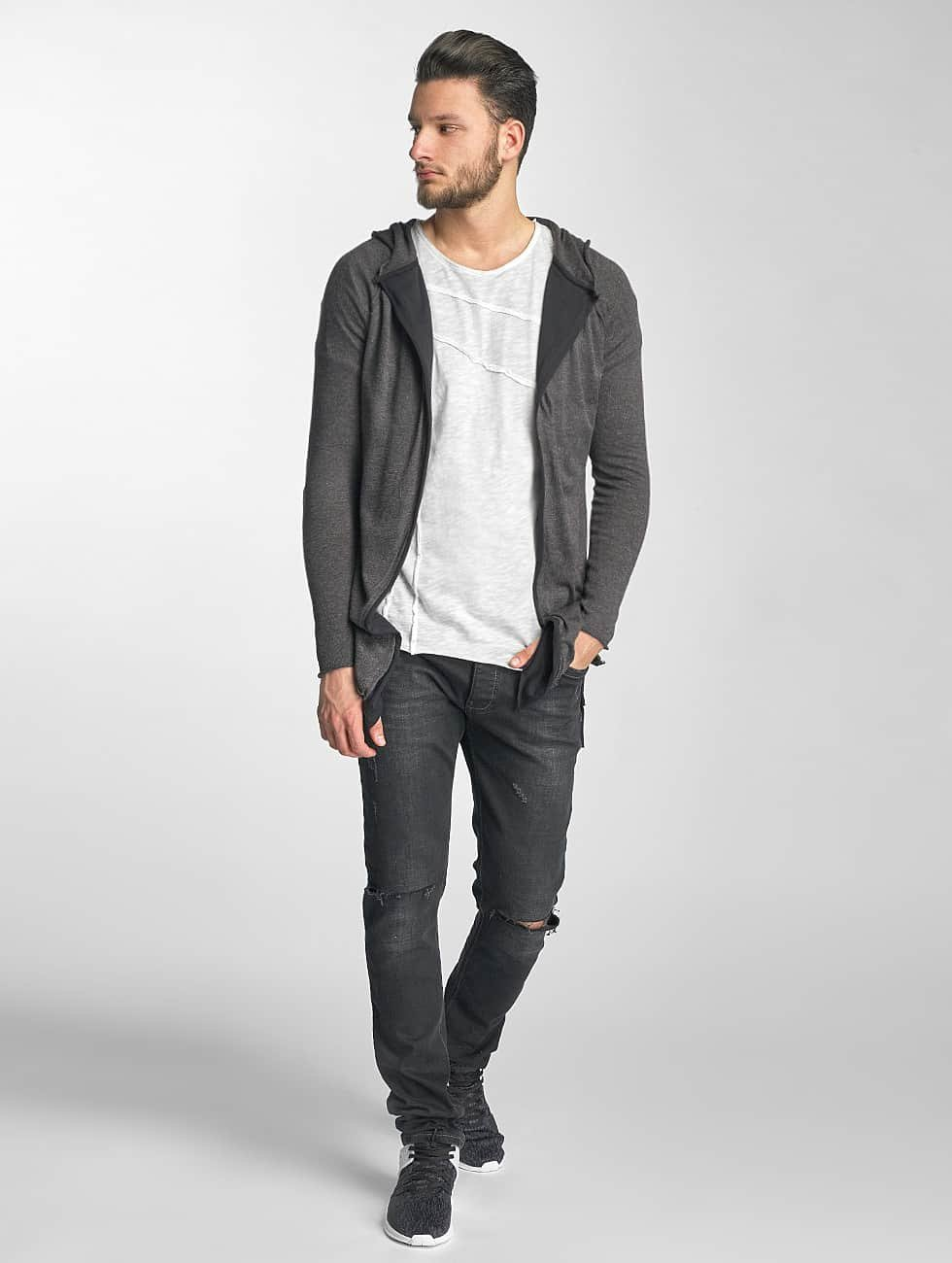 Red Bridge Cardigan Two Tone gray