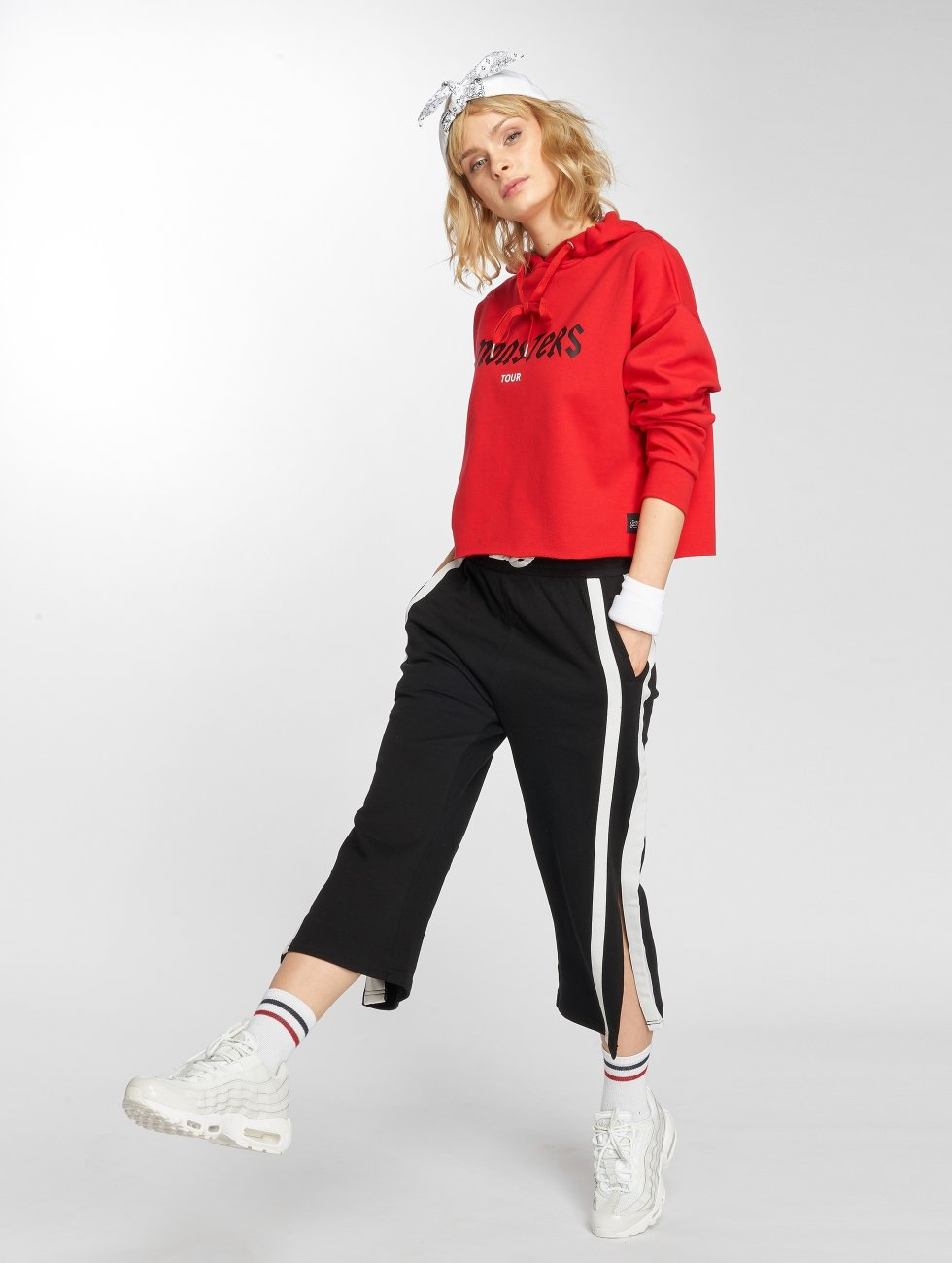 Sixth June Hoodie Oversize Cropped red