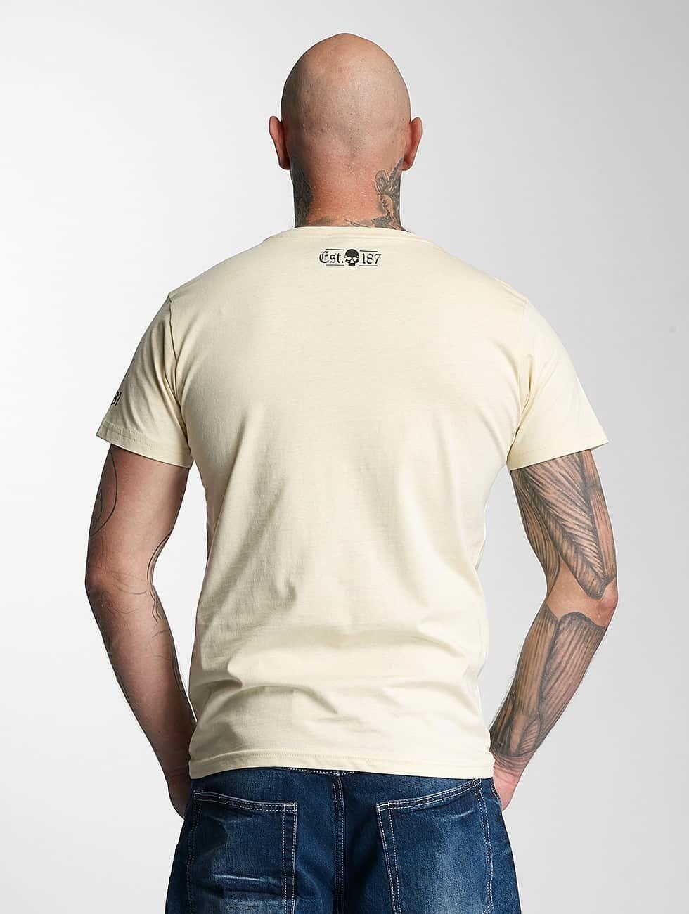 Thug Life T-Shirt Kursiv beige