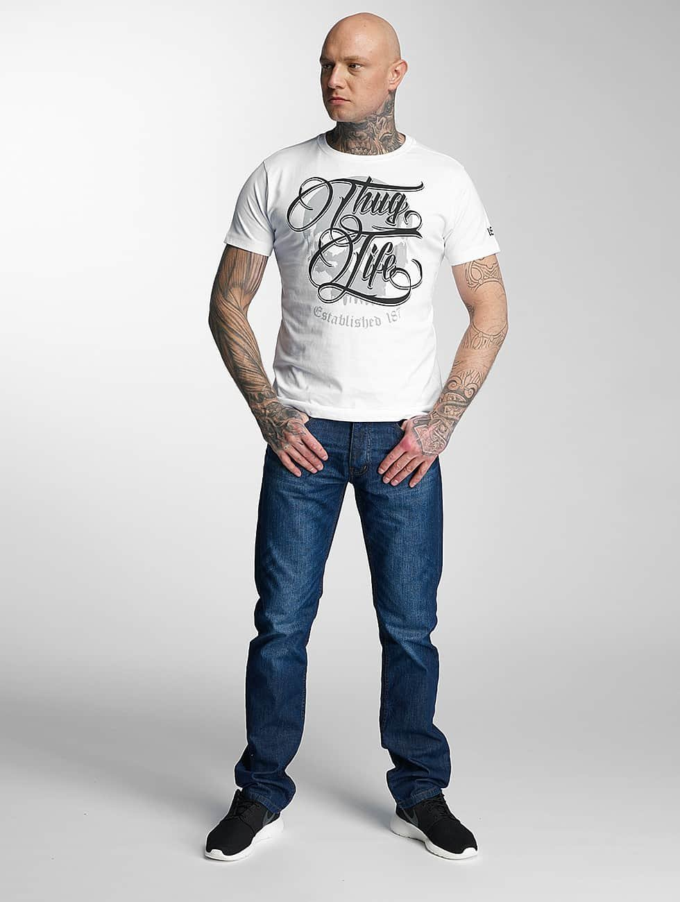 Thug Life T-Shirt 187 white